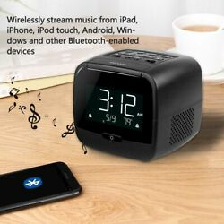 FM Clock Radio MP3 Player Sleep Timer Bluetooth Speaker LCD Display Alarm Snooze