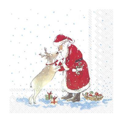 Paper Christmas Napkins Santas Best Friend Disposable Cocktail Party
