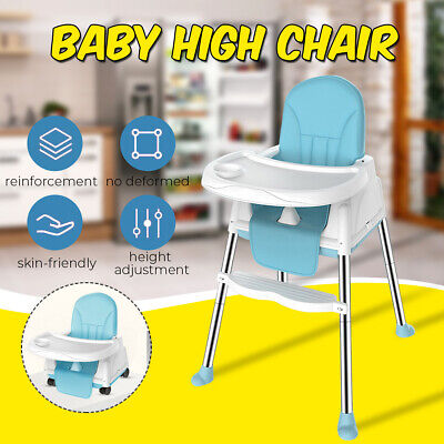 Portable Foldable Kids Baby High Chair 6 - 36 Months W/ Wheeled Seat Cushion US