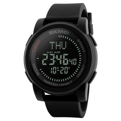 SKMEI Mens Compass Large Display Digital Watch Resin Strap Alarm DG1289 ()
