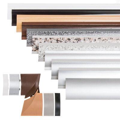 ABSCHLUSSLEISTE Winkelleisten Küche Arbeitsplatte Wandabschlussleisten 23x23mm