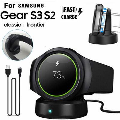 Usado, Wireless Stand Charging Charger Dock for Samsung Gear S2 S3 SM-R750 Smart Watch comprar usado  Enviando para Brazil