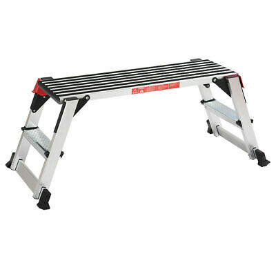 330 Lbs Aluminum Step Stool Folding Bench Work Platform Non-slip Drywall Ladder
