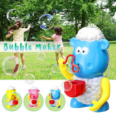 Bubble Machine Sheep Automatic Bubble Maker Blower Toys For Kids Indoor Outdoor](Bubble Machine For Kids)