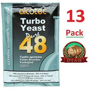 13-x-Alcotec-48-Turbo-Lievito-Super-saldi-confezione-di-13-VELOCE-GRATUITO