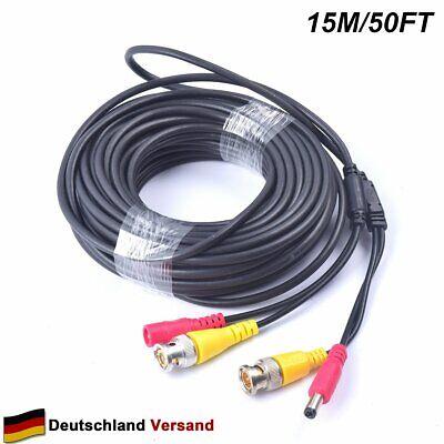 Video Power Bnc Kabel (15M All-in-One BNC Video Verlängerungskabel mit Power-DC 2.1 für CCTV Kamera)
