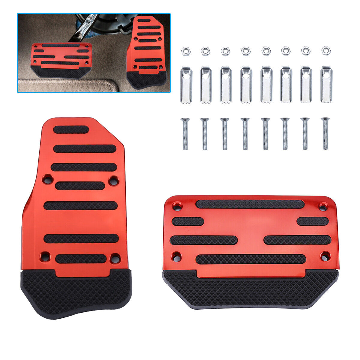 2pcs Foot Pedal Pad Cover Car Accessories Universal NonSlip Automatic Gas Brake