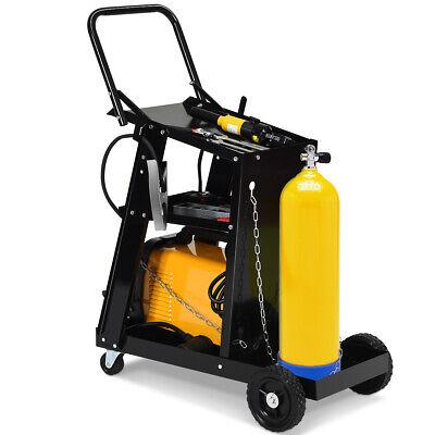3-tier Welding Cart Plasma Cutter Welder Mig Tig Arc Universal Wtank Storage