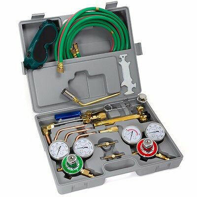 Oxygen Acetylene Welding Kit Harris Type Cutting Torch Welding Hose Goggles Tool