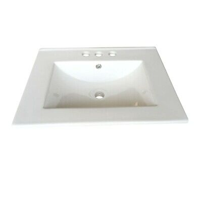 Square Drop In Sink Self Rimming for Bathroom White Grade A China 24