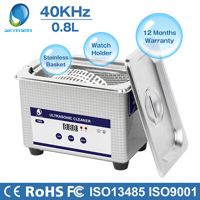 Ultrasonic Cleaner Basket Sonic Cleaner Bath Jewelry Gold Denture Glass Lab Pcb