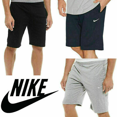 Nike Mens Shorts Club Jersey Shorts Gym Sports Knee Length Workout Bottoms New