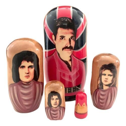 Queen Rock Band Nesting Dolls Freddie Mercury Best Gift Matryoshka Set