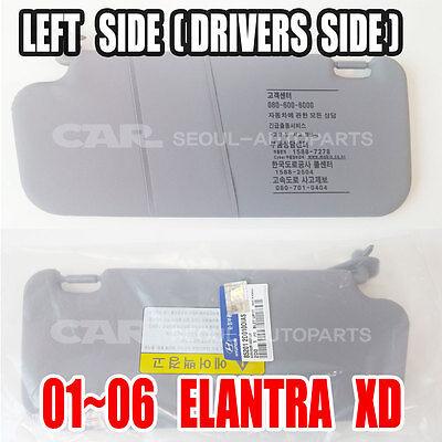 HYUNDAI 2001-2006 ELANTRA XD Inside Sun Visor  Left Handle Side Genuine  USPS