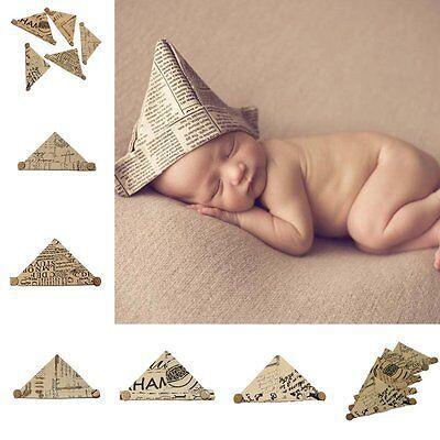 Newborn Infant Baby Handcraft Newspaper Hats Handmade DIY Cap Photography Props - Diy Photography Props