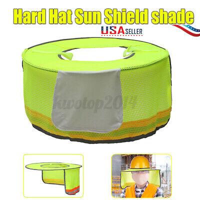 Us Safety Hard Hat Reflective Neck Shield Cap Sunproof Sun Shade Work Full Mesh