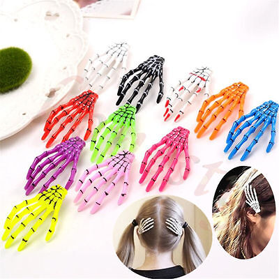 5pcs Halloween Party Zombie Skull Skeleton Hand Bone claw Hairpin Hair Clip
