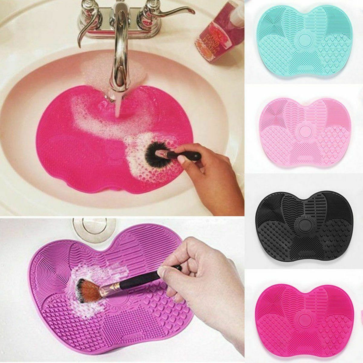 Silikon Make-up Pinsel Reiniger Pad Wasch Scrubber Board Reinigung Mat Weg