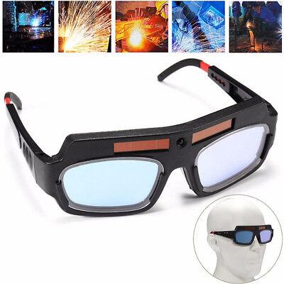 Solar Auto Darkening Welding Mask Helmet Eyes Goggle Welder Glasses Arc Black