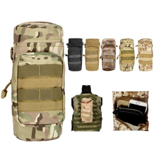 NEW Camo Tactical Molle Military Water Bottle Hydration Pouch Bag Outdoor Hiking