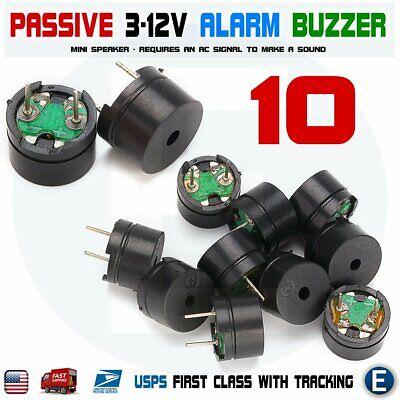 10 X Passive Buzzer Acoustic Component Mini Alarm Speaker For Arduino 3v 5v 12v