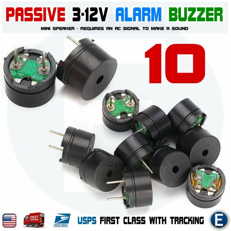 10pcs Passive Buzzer Acoustic Component Mini Alarm Speaker Arduino 3V 5V 12V