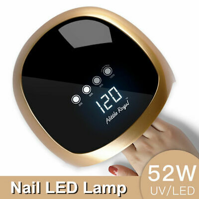 52W UV LED Nail Dryer Gels Polish W/ Sensor Sun Light Lamp Timer SUN4splus Q2U6