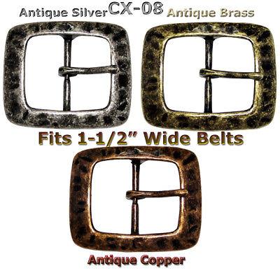 Center Bar Belt Buckle fits1-1/2