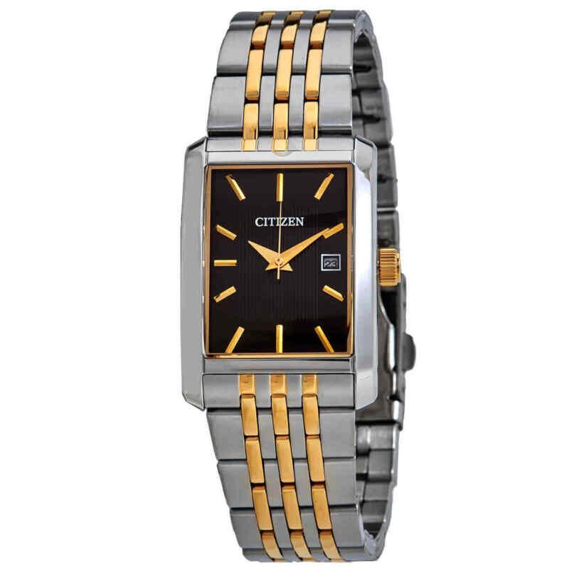 Citizen-Quartz-Black-Dial-Two-tone-Men-Watch-BH1678-56E