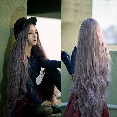 100cm Long Women's Curly Wavy Hair Full Wigs Cosplay Party Lolita Anime Taro Wig
