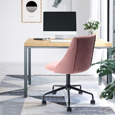 Velvet Home Office Chair Swivel Armless Computer Task Desk Chair Dining Chairs