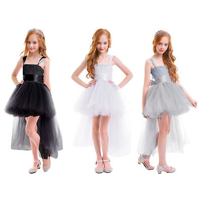 Baby Kid Girls High Low Tulle Dress Birthday Photography Party Show Tutu - High Low Dresses Kids