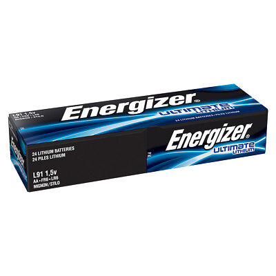 Energizer L91 AA Ultimate Lithium Batteries 24 Pack, used for sale  Granada Hills