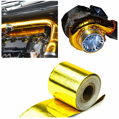 """Gold 2""""x15"""" Self Adhesive Reflective High Temperature Heat Shield Wrap Tape Roll"""