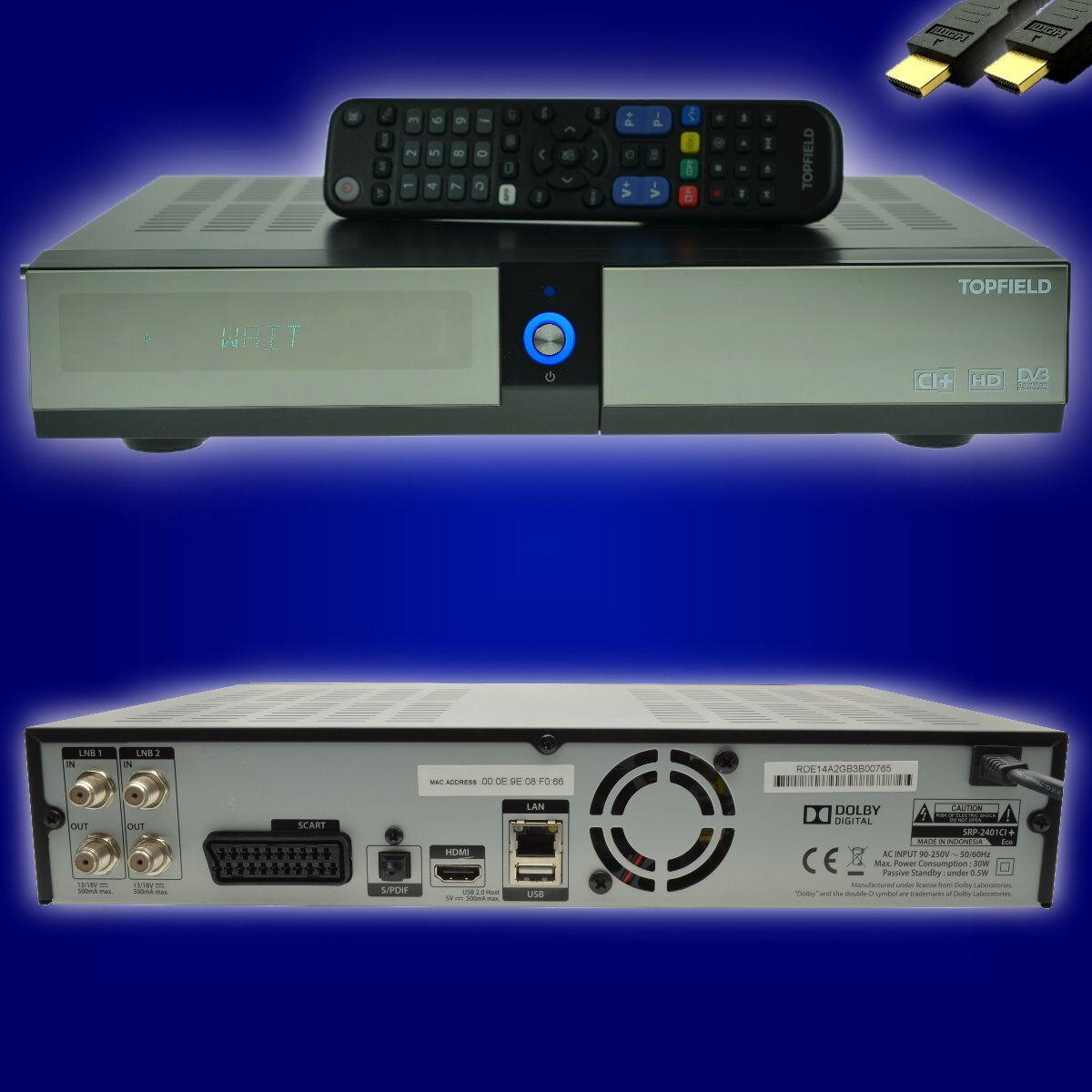 Topfield SRP-2401 Eco CI+ 500GB HDTV  Twin Sat Receiver mit Festplatte