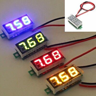 5x Mini Dc 2.5v-30v Digital Led Voltmeter Voltage Tester Meter Waterproof Us