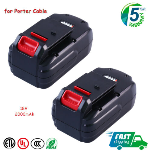 Replace for Porter Cable 18V Battery 2 Pack NiCd PC18B PCMVC