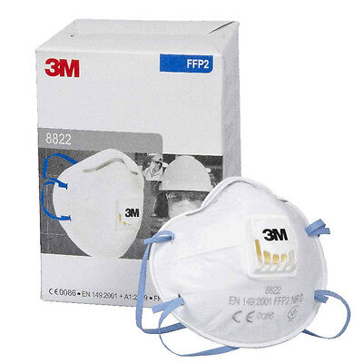 3m 8822 Dust & mists respirator masks valved FFP2 Box of 10