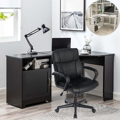 L-shaped Computer Desk Gaming Corner Table Home Office Chairs Study Workstation