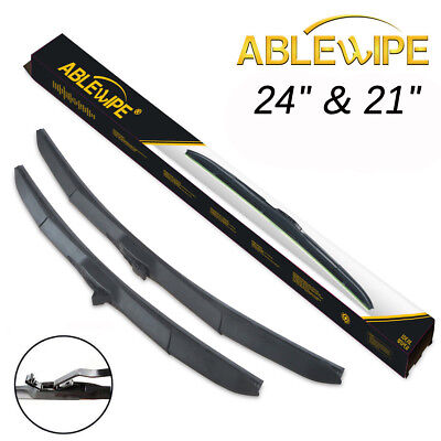"ABLEWIPE 24""+21"" Fit For Dodge Charger PREMIUM QUALITY WINDSHIELD WIPER BLADES"