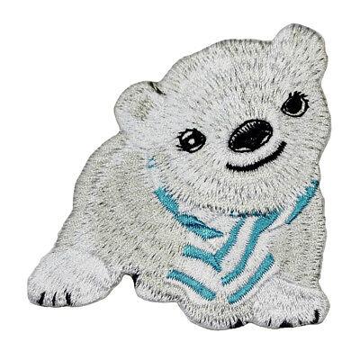 Polar Bear Patch - Polar Bear Iron On Embroidered Patch Animals Arctic Zoo