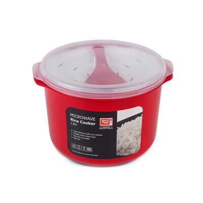 Good2Heat Plus Cocina Arroz 2.8L Microondas de Cocina Accesorios Grande Rojo