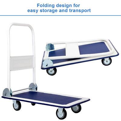 Heavy Duty Folding Warehouse Push Cart Dolly Platform Hand Truck Warehouse Mover