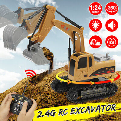 RC Bagger Ferngesteuert Muldenkipper 1:24 2.4G Baufahrzeug Sandspielzeug Kind