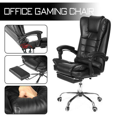 Executive Computer Office Chair 135 Lying Recliner Swivel Seat Home Leather