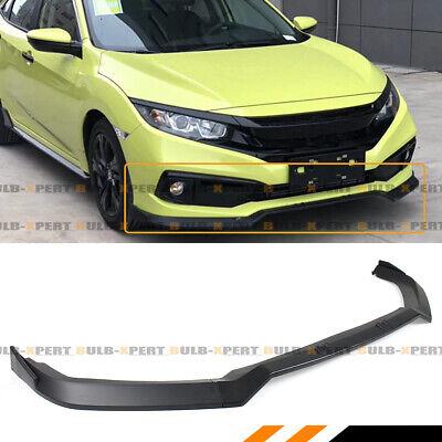 FOR 2019-2020 Honda Civic 2/4 Door 3pc JDM Front Bumper Lip Spoiler Splitter