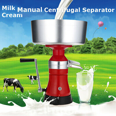 Fresh Milk Cream Manual Centrifugal Separator Metal Machine 10000 Rpm 12l