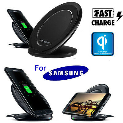 Fast Qi Wireless Charger Charging Pad Stand Dock for Samsung Galaxy S7/S8 Plus