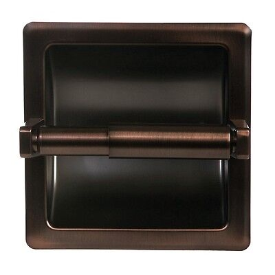 Oil Rubbed Bronze Bathroom Mounted Recessed Toilet Paper Holder Bath Accessory (Mounted Toilet Paper)