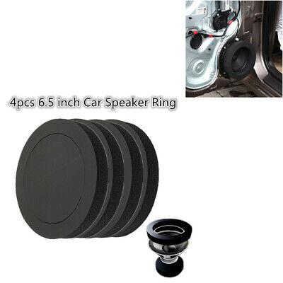 4Pcs Black 6.5in Car Door Speaker Bass Ring Soundproof Rubber Foam Pad...